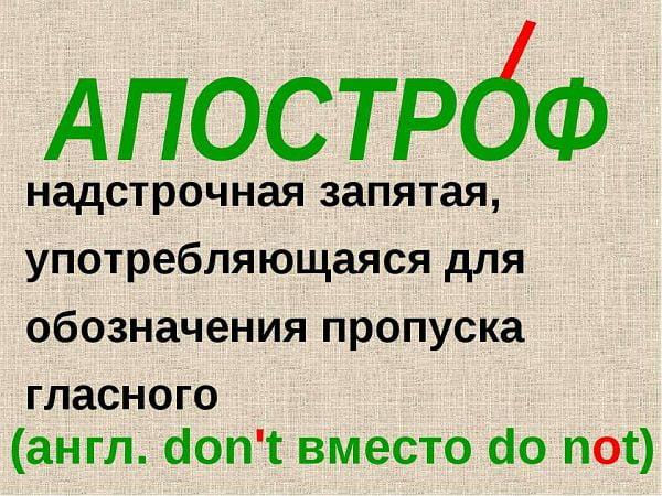 """дарение в слове """"апостроф"""""""