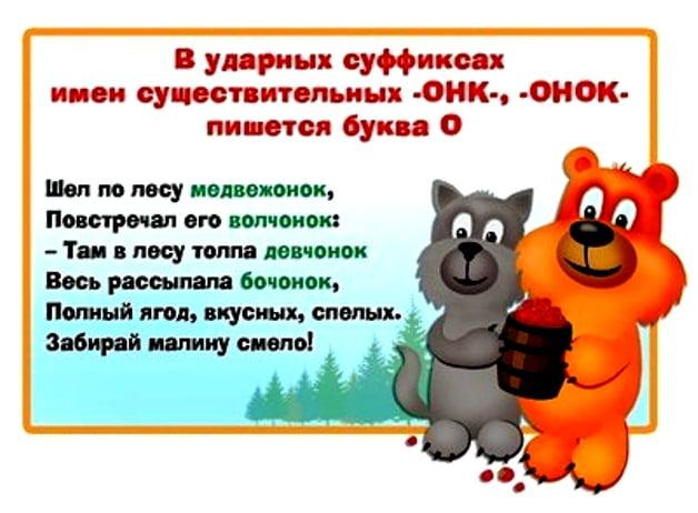 """Правописание слова """"медвежонок"""""""