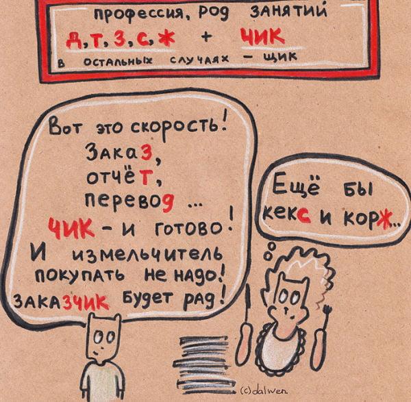 -ЧИК и -ЩИК