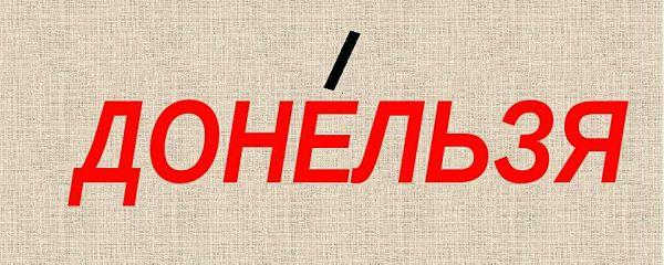 """Ударение в слове """"донельзя"""""""