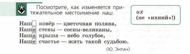 """Притяжательное местоимение """"наш"""""""